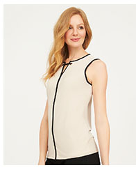 Contrast Piping Sleeveless Tank Top