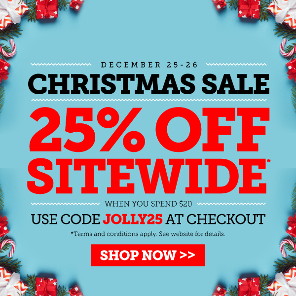 Having trouble viewing this image? Click here to enjoy Christmas Sale. 25% Off Sitewide*