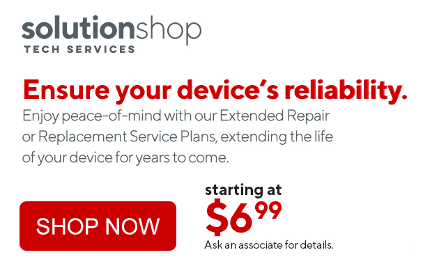 Solutionshop. Ensure your device's reliability. starting at $6.99.