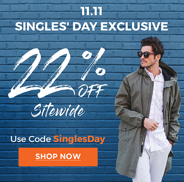 11.11 Singles' Day Exclusive. 22% Off Sitewide | Use Code: SinglesDay | Shop Now