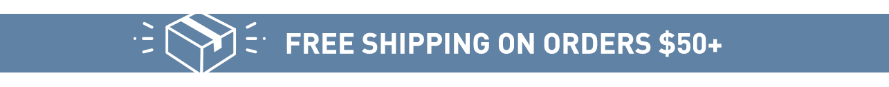 Free Shopping on orders $50+