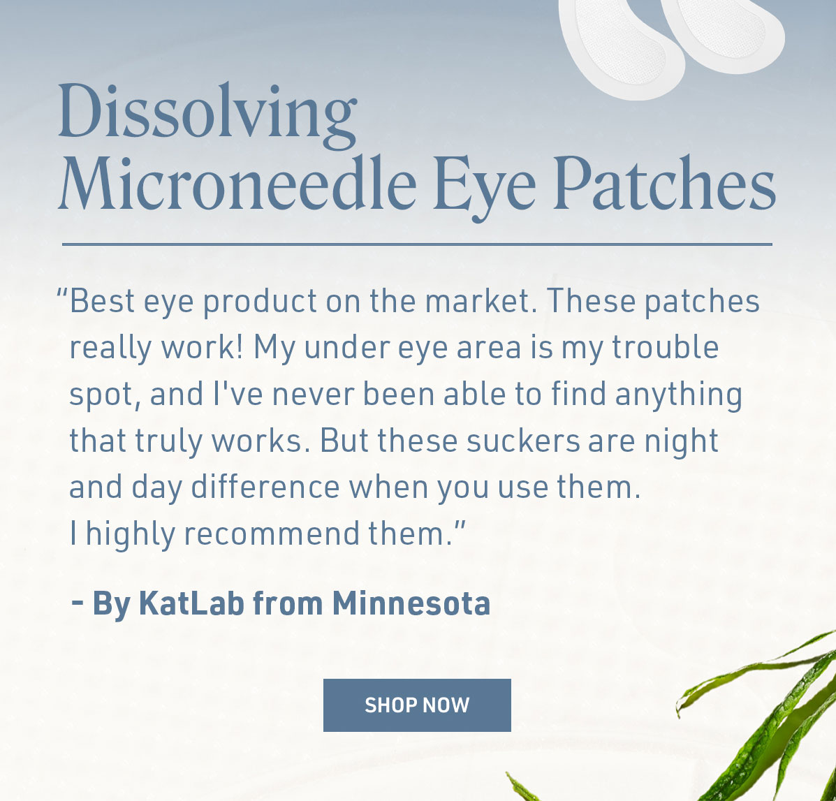 Dissolving Microneedle Eye Patches
