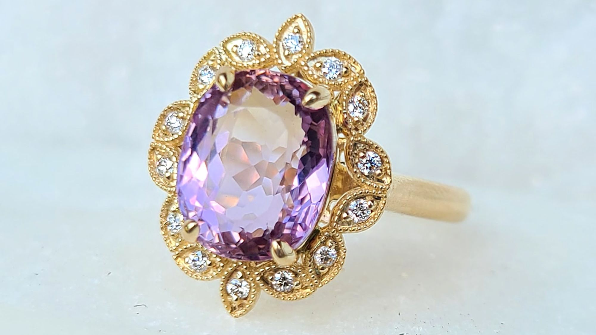 Sincerely Ginger Jewelry Ametrine Diamond Ring