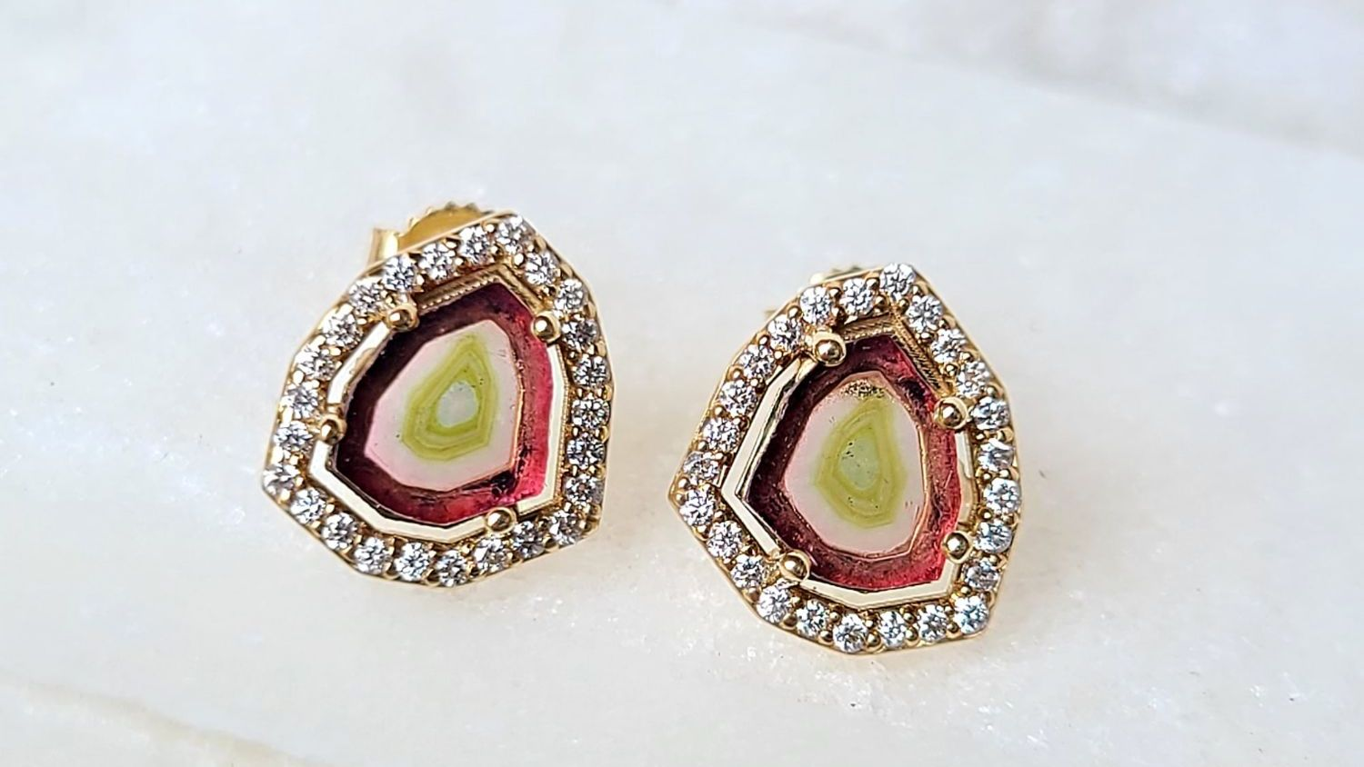 Sincerely Ginger Jewelry Tourmaline Diamond Earrings