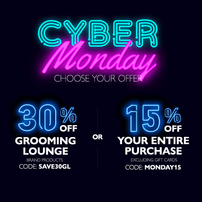 Save 30% On Grooming Lounge Brand Products or 15% On Your Entire Purchase