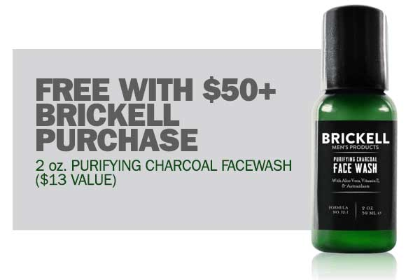 Get A Free Brickell Gift With $50+ Purchase