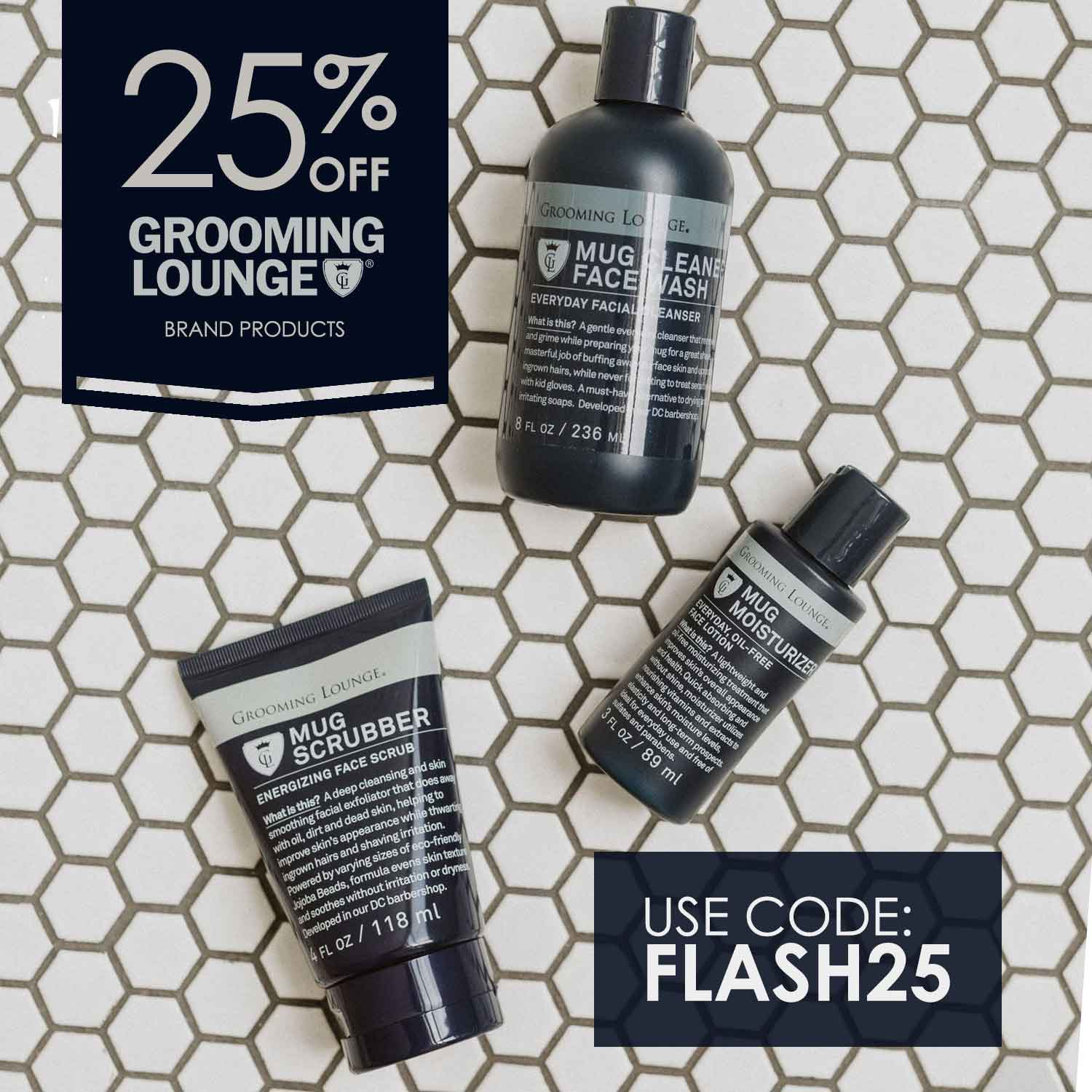 Save 25% On All Grooming Lounge Brand Products