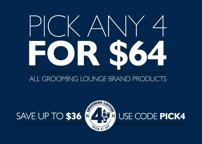 Get Any 4 Grooming Lounge Brand Products For $64 With Code PICK4