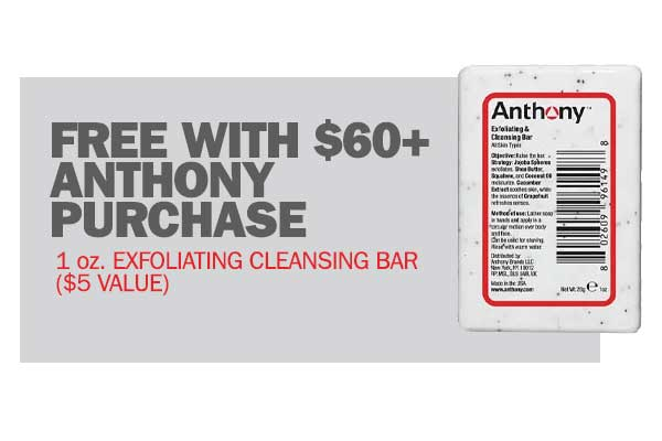 Free Anthony Gift With $50+ Purchase