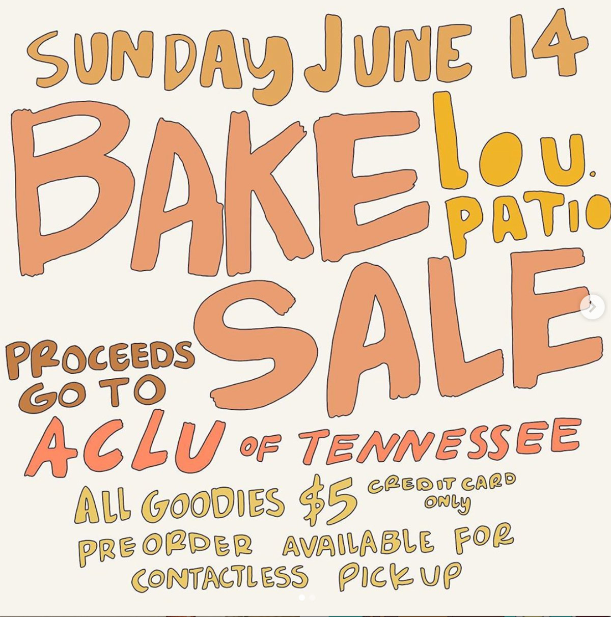 Bake Sale for ACLU