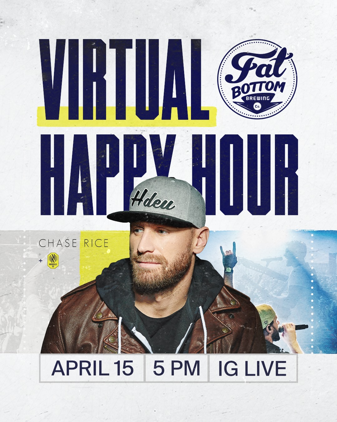 Nashville SC for a Fat Bottom Brewing Virtual Happy Hour with Chase Rice