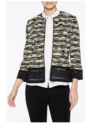 Lace Trim Boucle Jacket