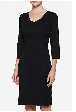 Black 3/4 Sleeve Sheath Dress