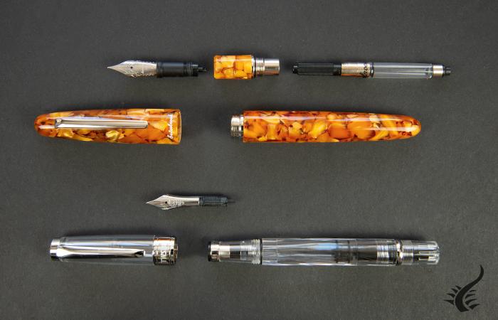 Parties d'un stylo plume TWSBI