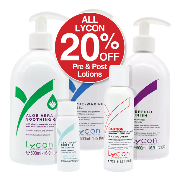 20% off Lycon Pre & Post Lotions