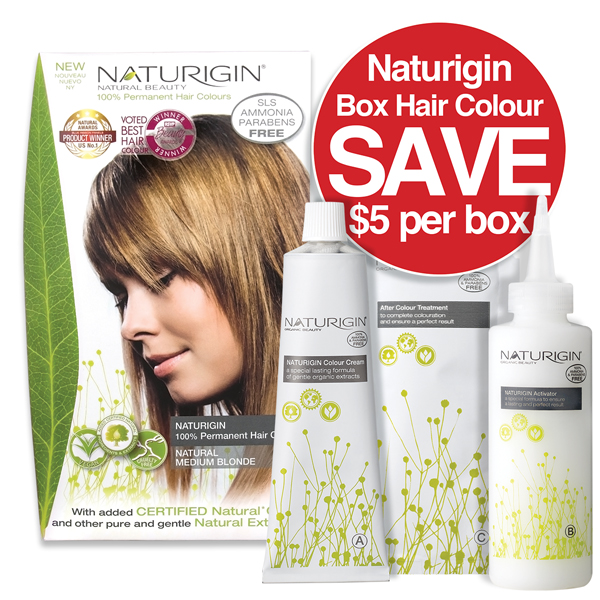 Naturigin Boxed Hair Colours Save $5 per box