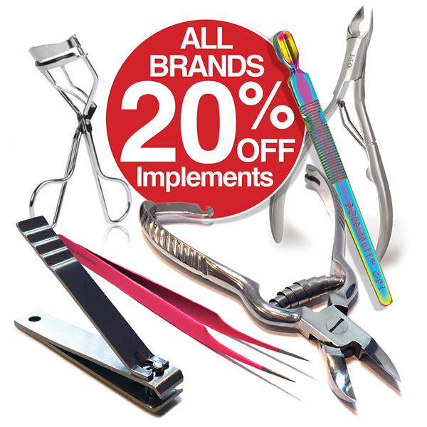 20% OFF all implements