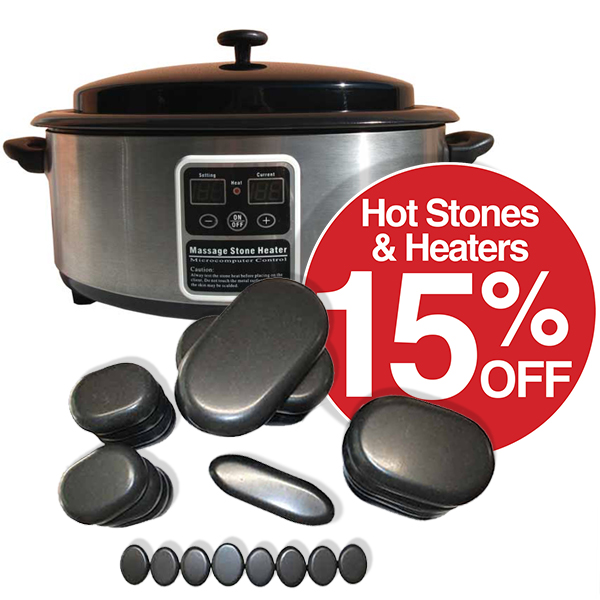 15% off ALL Hot Stone Heaters & Stones