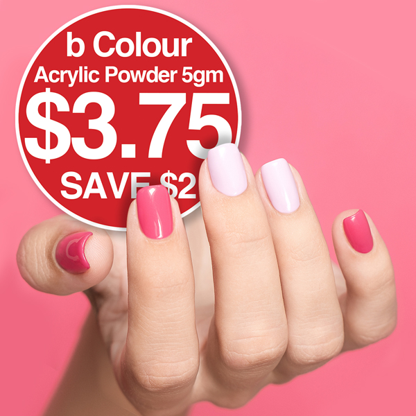 b Colour Acrylic Powder 5gm $3.95 SAVE $2