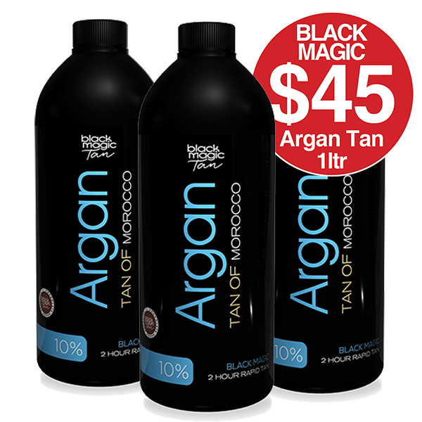 Black Magic Argan Tan 10% 1 Litre $45