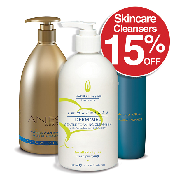 15% off all SkinCare / Cleansers