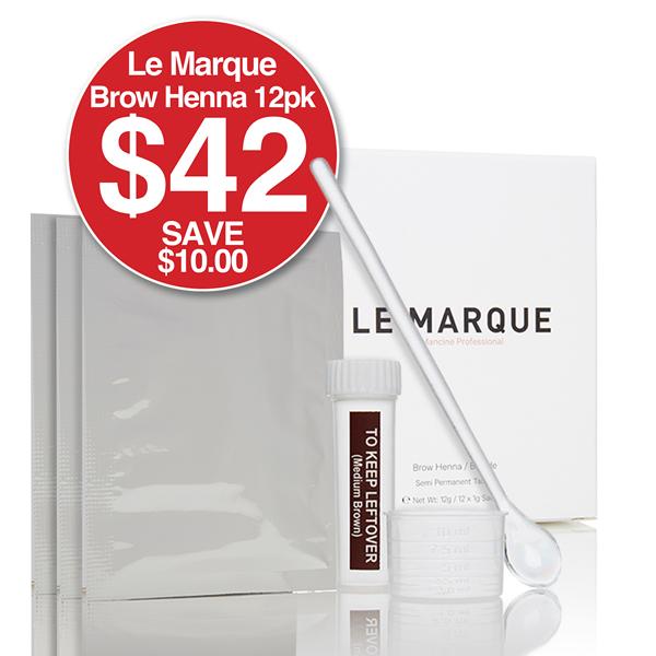 Le Marque Brow Henna Refill 12pk - $42 SAVE $10
