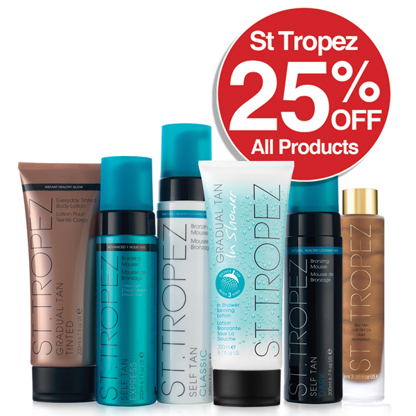 St Tropez All products Save 25%
