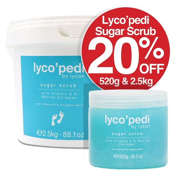 Lyco Pedi Sugar Scrub SAVE 20% 520g  & 2.5kg