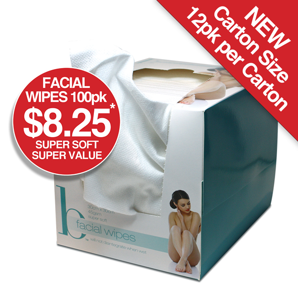 Facial Wipes 100pk $8.25