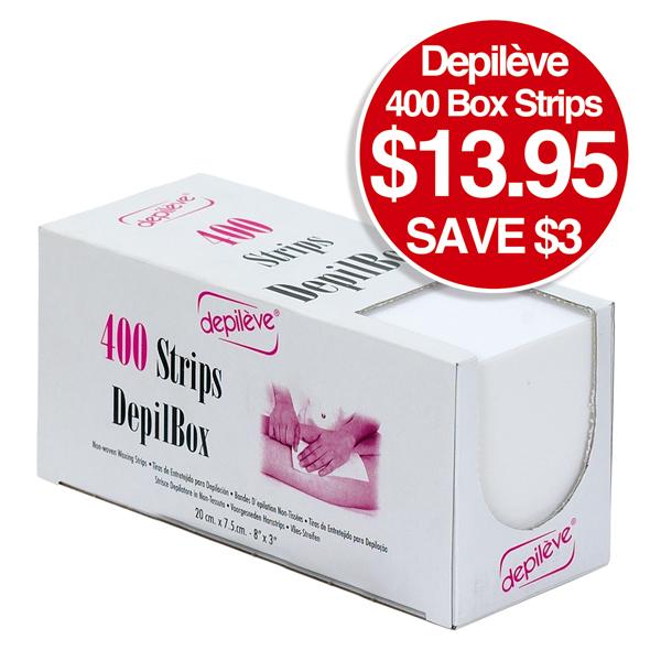 DEPILEVE 400 BOX STRIPS $13.95 SAVE $3