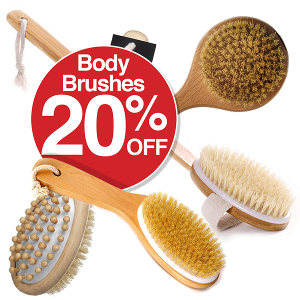 20% OFF Body Brushes