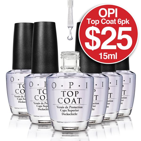OPI TOPCOAT 15ml 6 Pack $25