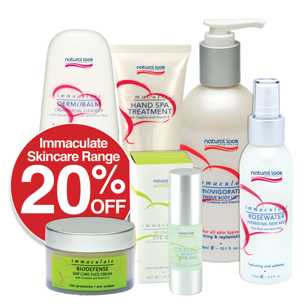 Immaculate Skincare Save 20%
