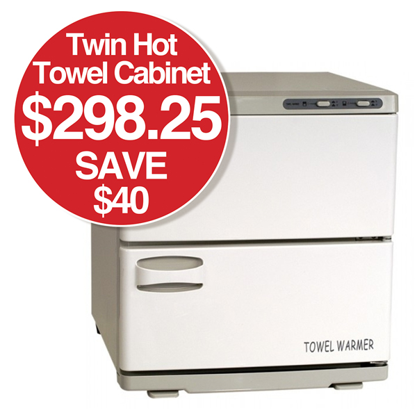 Twin Hot Towel Cabinet $298.25 SAVE $40
