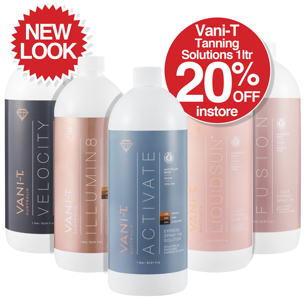 20% OFF New Look Vani-T Tanning Solutions 1ltr