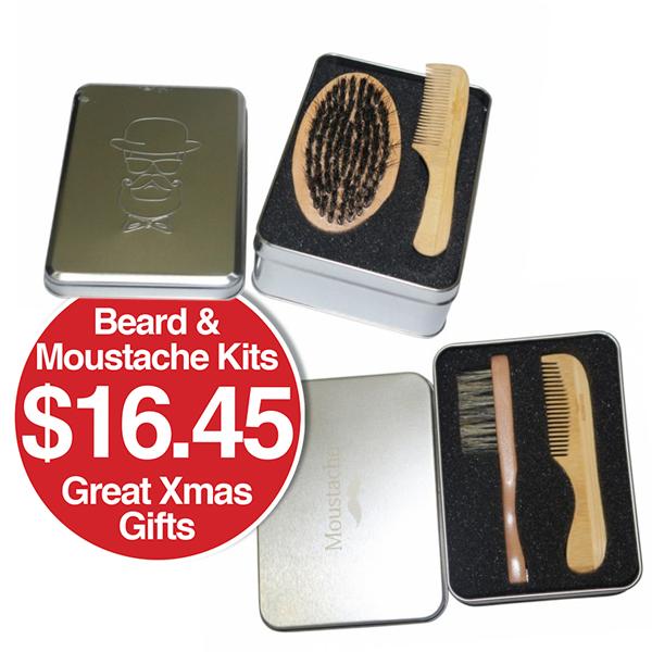 BEARD & MOUSTACHE GIFT KITS $16.45  Great Xmas Gift