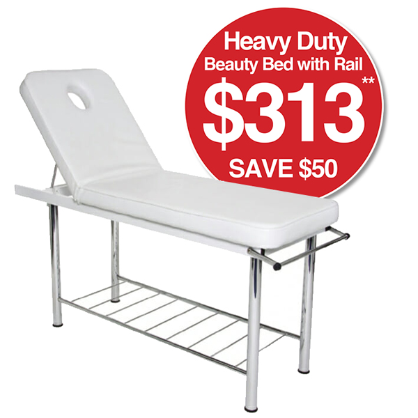 Heavy Duty Beauty Bed with Rail SAVE $50 $313**