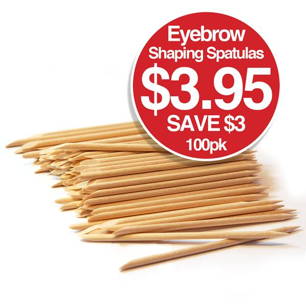 Eyebrow Shaping Spatulas 10.4cm 100pk $3.95 Save $3