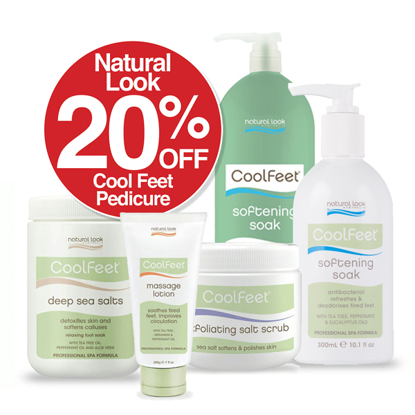 20% Off  Cool Feet by Natural Look Pedicure Products