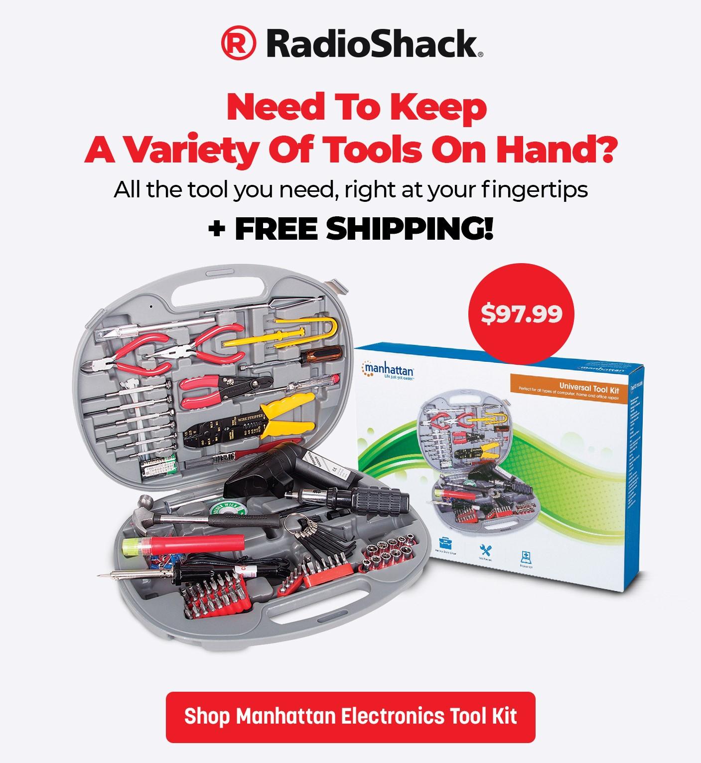 Manhattan 145-Piece Electronics Tool Kit with Heavy-Duty Case