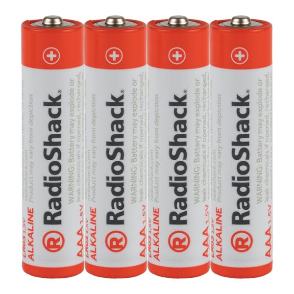 AAA Alkaline Batteries - 4-Pack