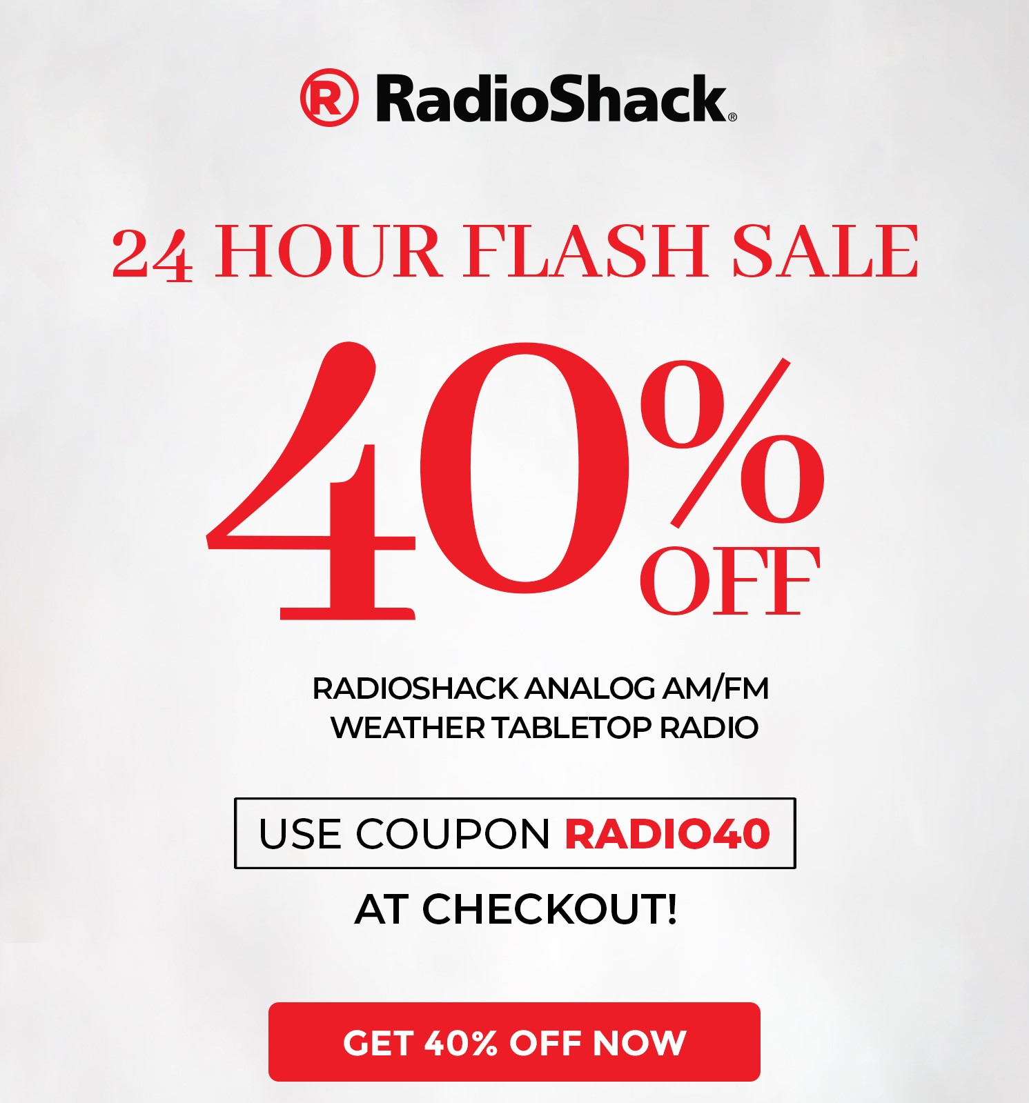 RadioShack Analog AM/FM Weather Tabletop Radio