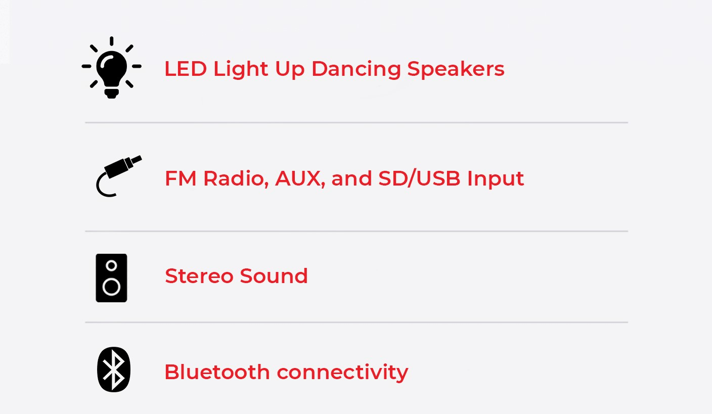 Boombox features