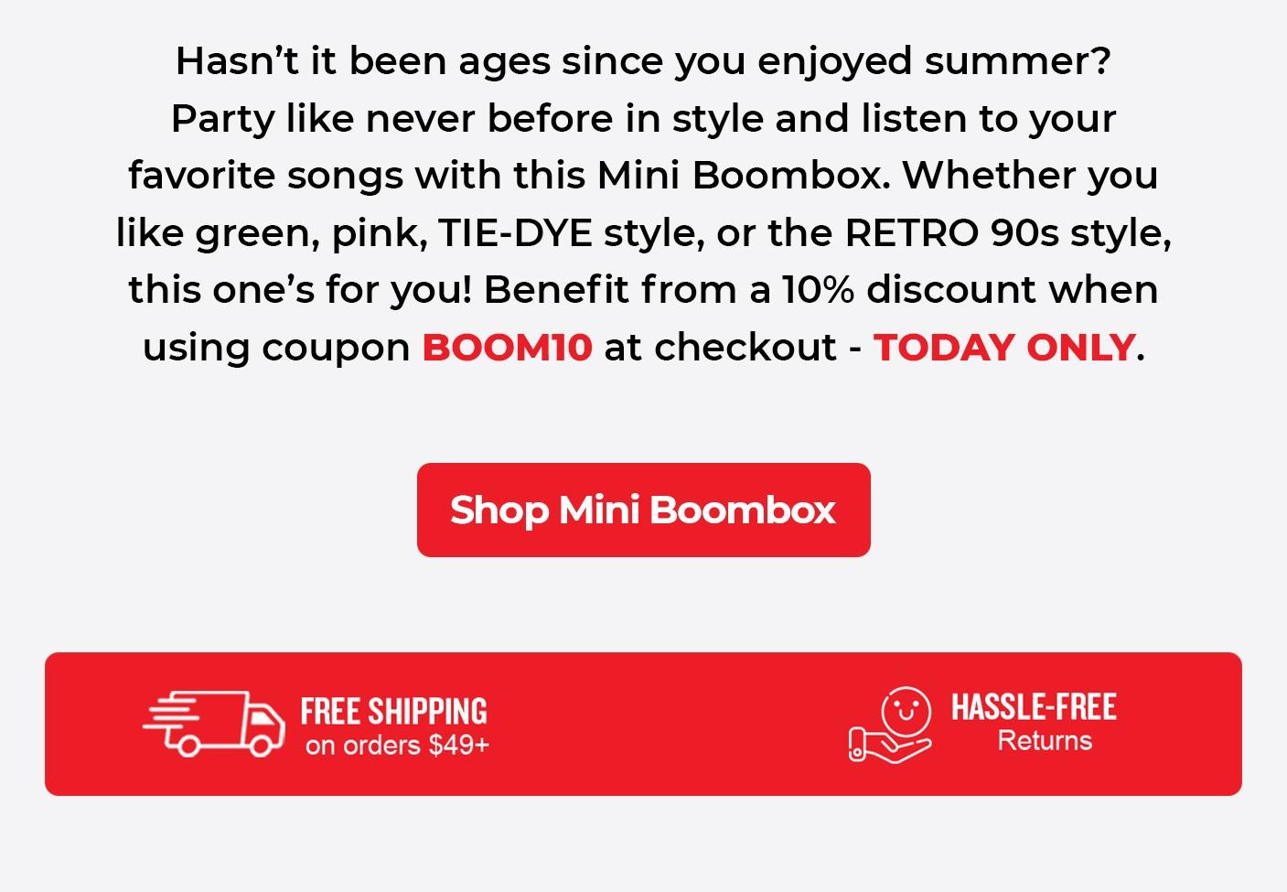 Shop Mini Boombox