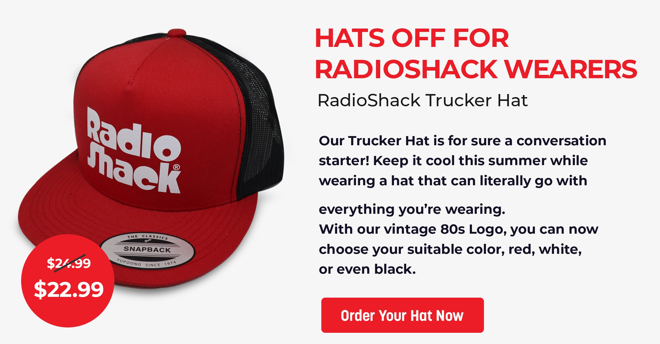 Hats off for RadioShack wearers