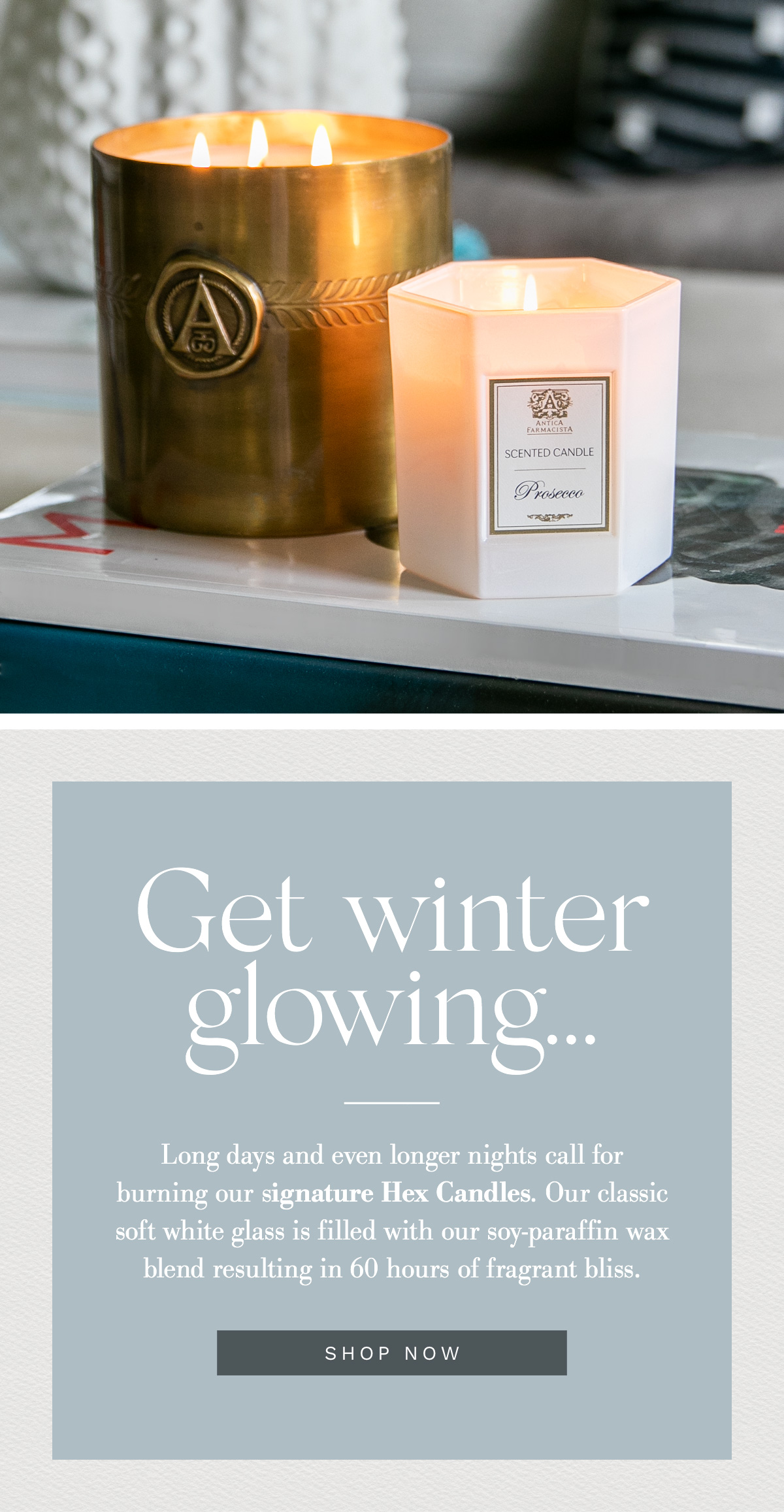 Get Glowing with our Hex Candles!