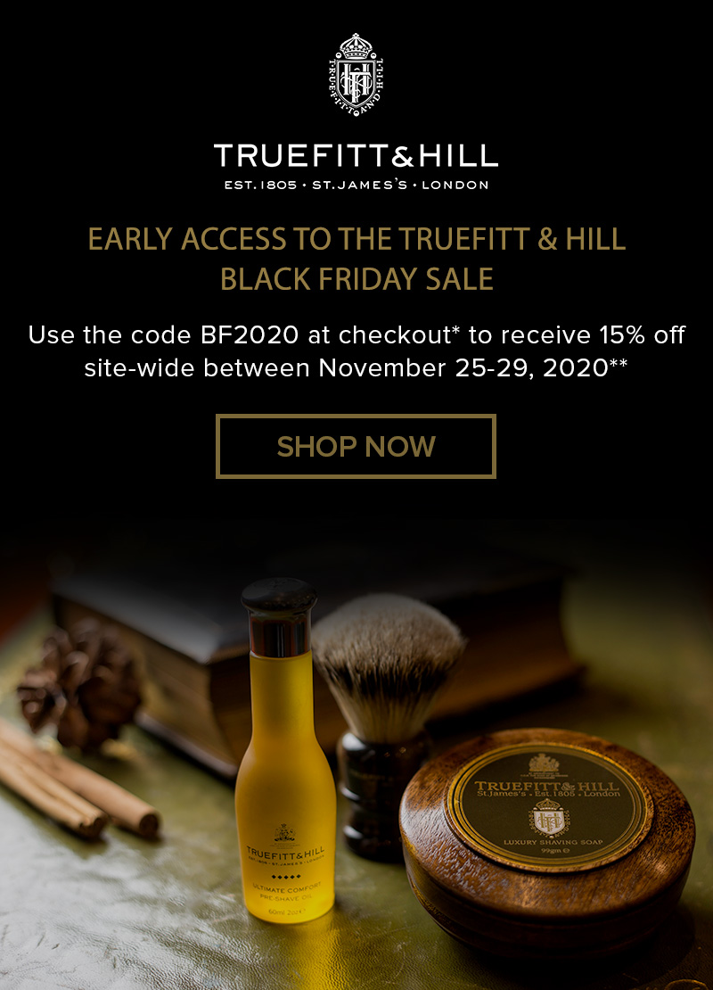 Truefitt & Hill Black Friday starts now