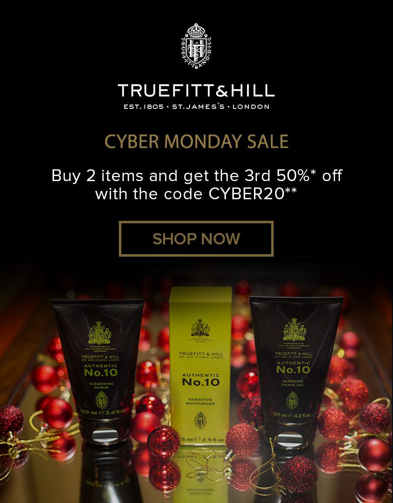 Truefitt & Hill Cyber Monday starts now