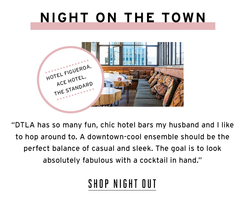 Night on the town. Shop Night Out.