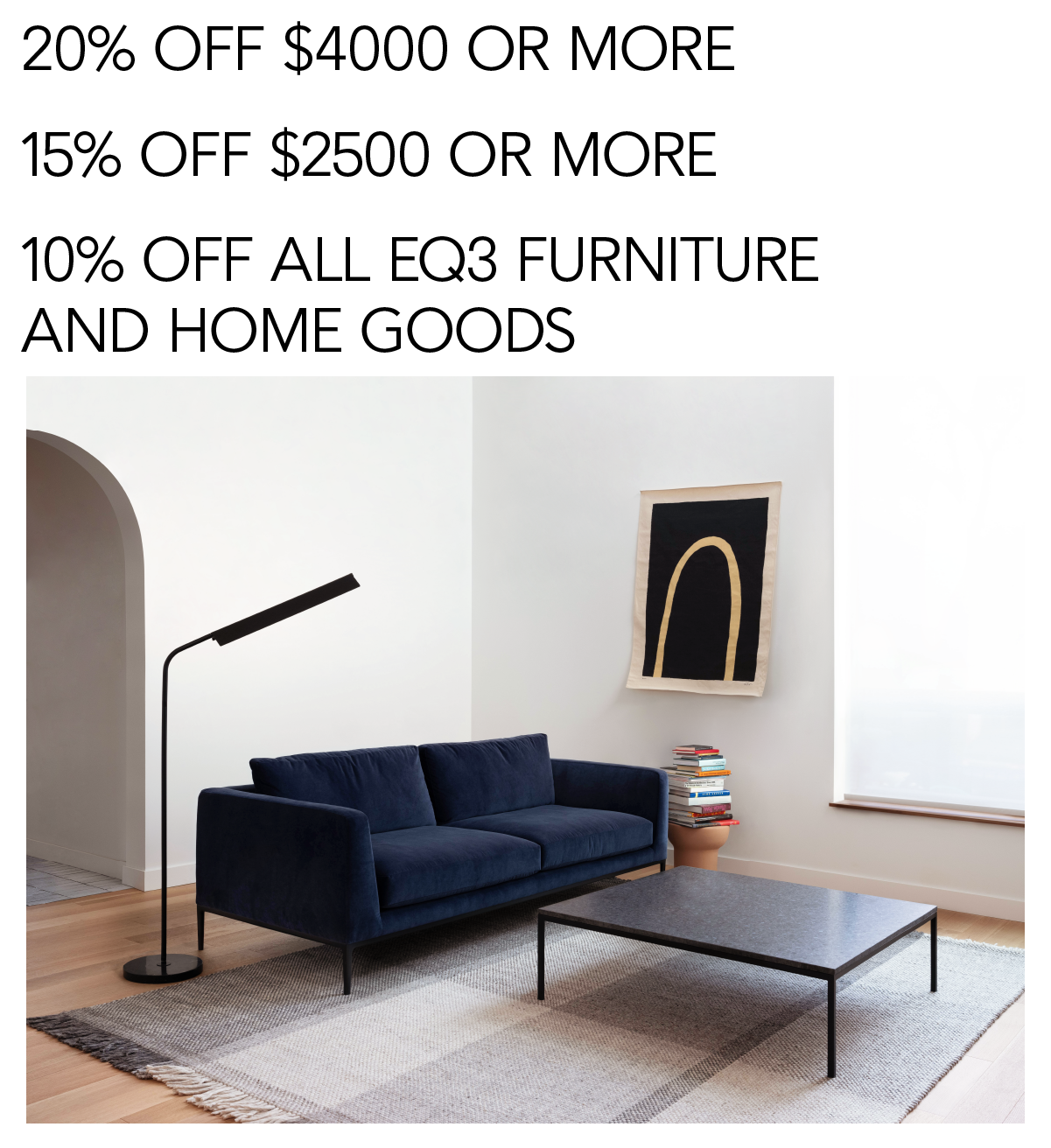 Save up to 20% off $4000 or more this weekend